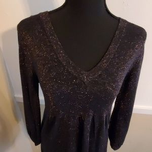 Black sparkly tunic